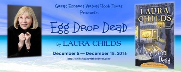 Egg Drop Dead by Laura Childs - banner
