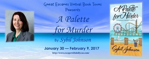 A Palette for Murder by Sybil Johnson - banner