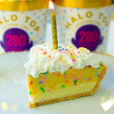 Halo Birthday Cake Ice Cream