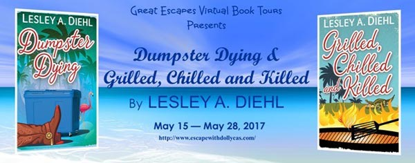 Dumpster Dying & Grilled, Chilled and Killed by Lesley A. Diehl - banner