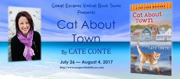 Cat About Town: A Cat Cafe Mystery - banner